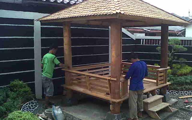 Jasa Pembuatan Gazebo Murah di Palembang